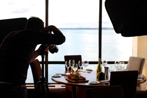 Fotógrafo de restaurante
