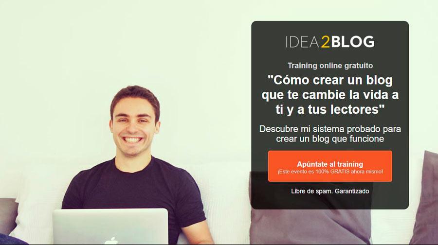 Crear un blog desde cero de Ángel Alegre. Idea2blog