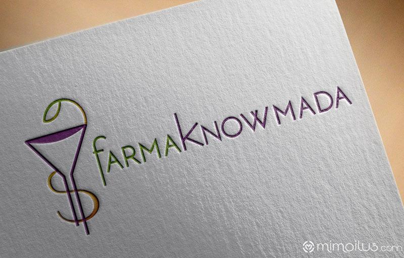 Logotipo farmaknowmada diseñado por Rosa León, Mimoilus