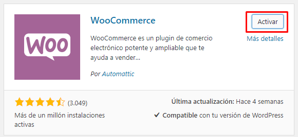 Instalacion Plugins en wordprees de woocommerce